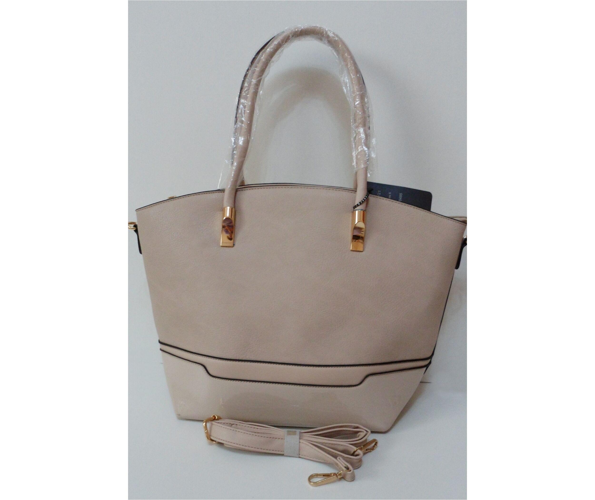 857a8d61fecc Merev falú elegáns női táska bézs színben Katt rá a felnagyításhoz