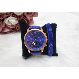 Blue óra karkötő szett