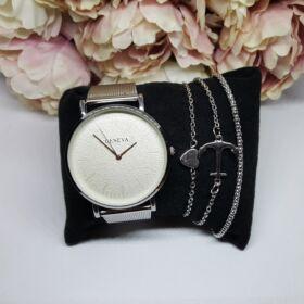 Grey elegant óra karkötő szett