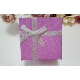 Csillámos ajándékdoboz óráknak, lila