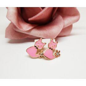 Cicás fülbevaló rózsaszín