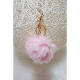 Pom pom kulcstartó rózsaszín