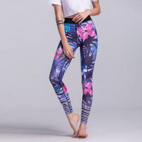 Virág mintás női leggings, L méret