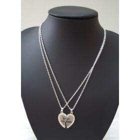 Best friends fél szív nyaklánc