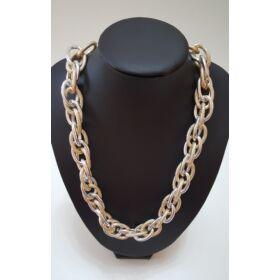 Láncos elegáns nyaklánc ezüst arany