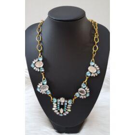 Strasszköves elegáns nyaklánc kék