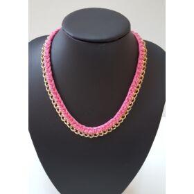 Fonott láncos nyaklánc, rózsaszín