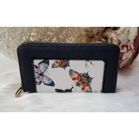 Pillangó mintás női pénztárca sötétkék