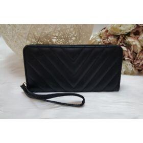 Varrott mintás női pénztárca fekete