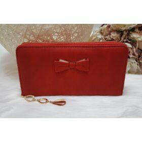 Masni díszes elegáns női pénztárca piros