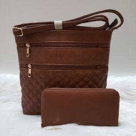 Brown romb II táska pénztárca szett