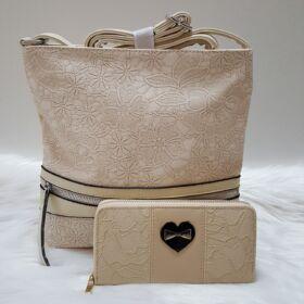 Heart lace táska pénztárca szett