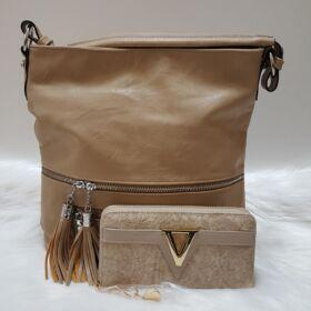 V elegant táska pénztárca szett