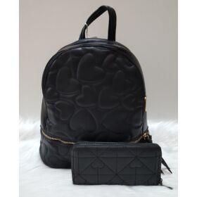 Black heart táska pénztárca szett