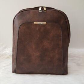 Egyszínű női hátitáska barna