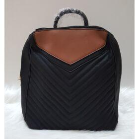 Varrott mintás női hátitáska feketeMéret: 34 x 30 x 12 cm Szín: vajszínű, barna Anyaga: műbőr Hátsó pántja: állítható