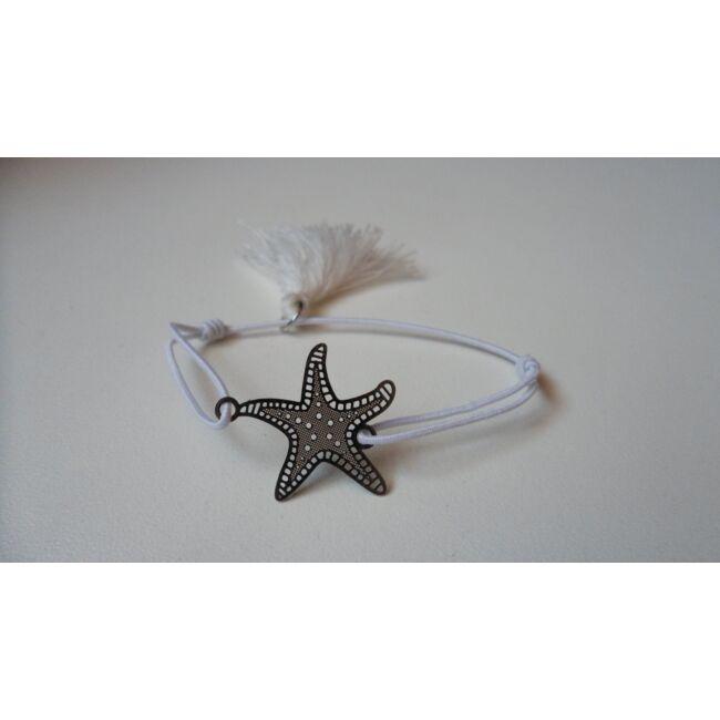 Gumis karkötő, csillag medállal