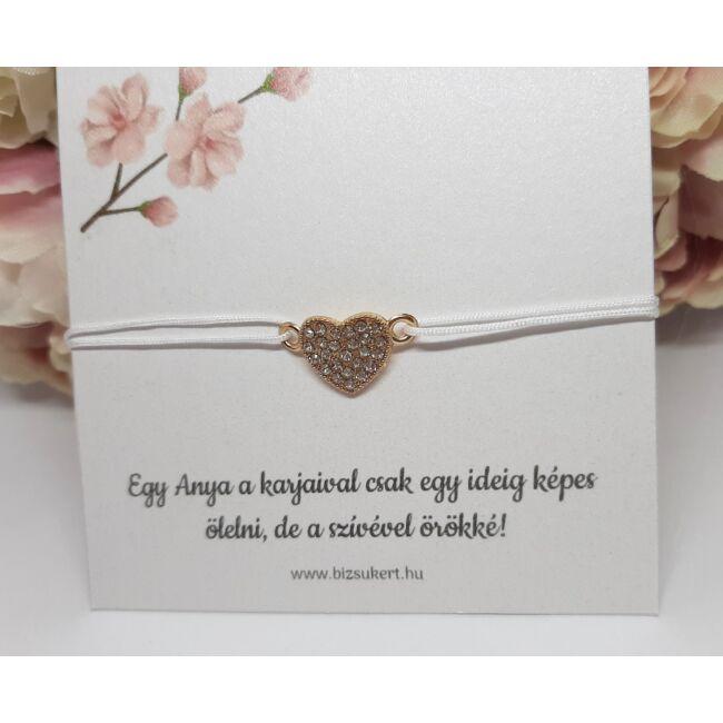 Szív medálos karkötő kísérőkártyával Anyukáknak