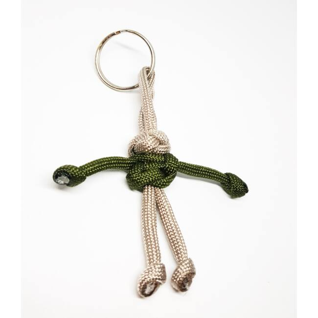 Paracord ember kulcstartó zöld