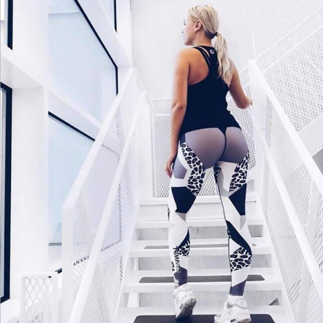 Mintás női leggings, L méret