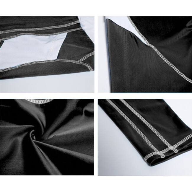 Fekete fehér női leggings, L méret