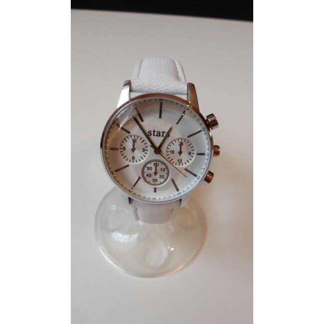 White óra karkötő szett