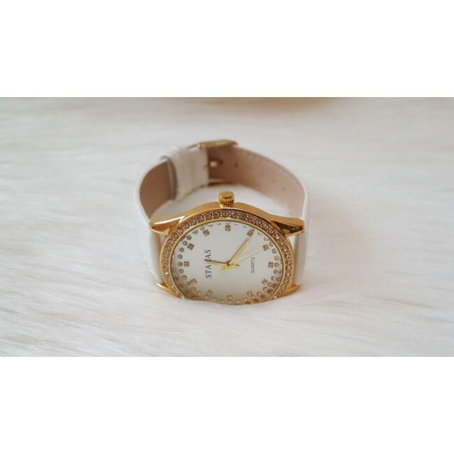 White elegant óra karkötő szett díszdobozban
