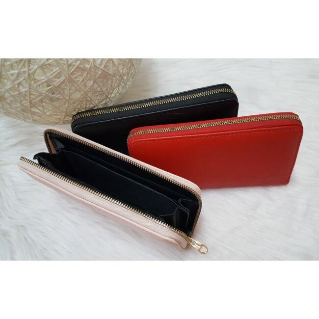 Egyszínű női pénztárca fekete