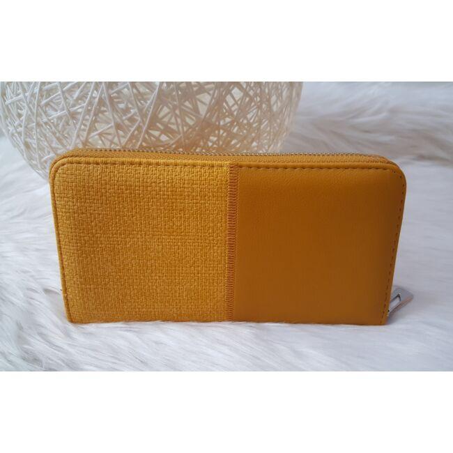Miss you varrott női pénztárca sárga