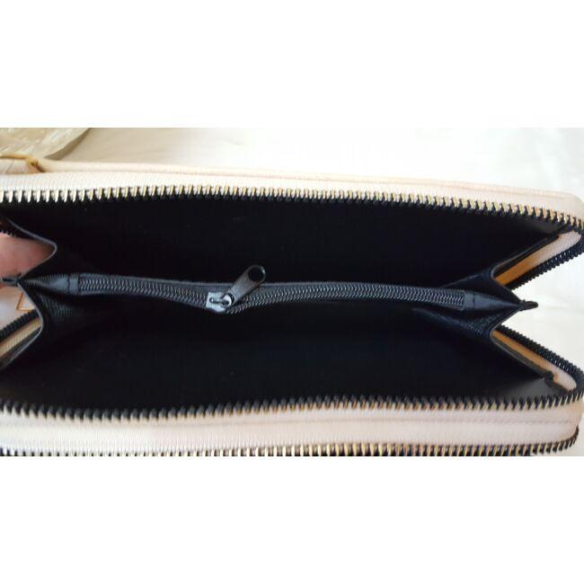 Dupla cipzáros egyszínű női pénztárca válltáska