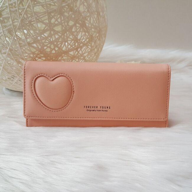 Szivecskés női pénztárca rózsaszín