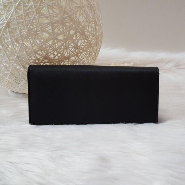 Szivecskés női pénztárca fekete