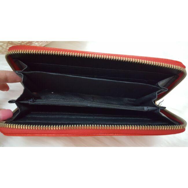 Egyszínű női pénztárca piros