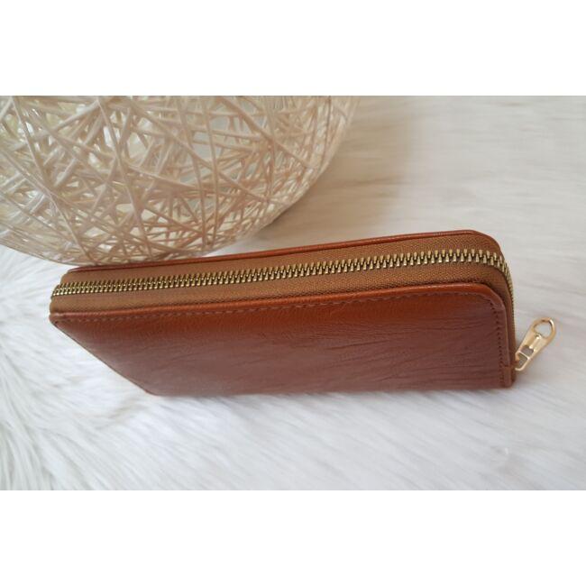 Egyszínű női pénztárca barna