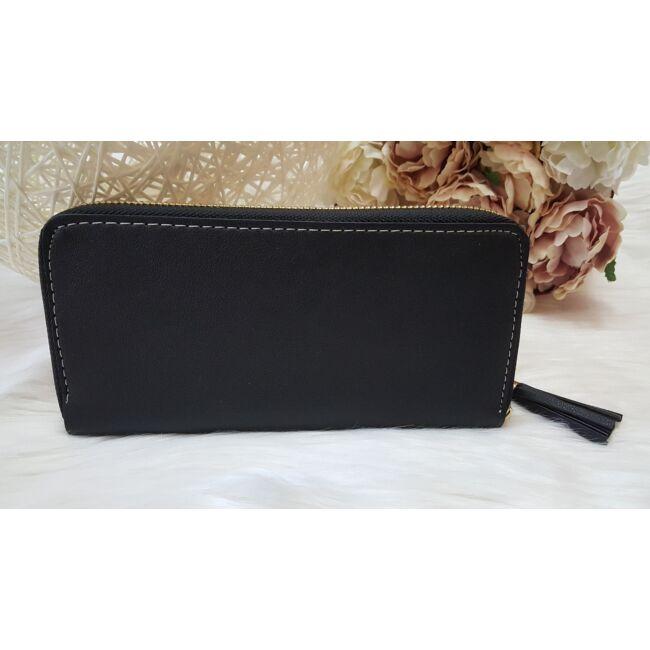 Három színű elegáns női pénztárca fekete