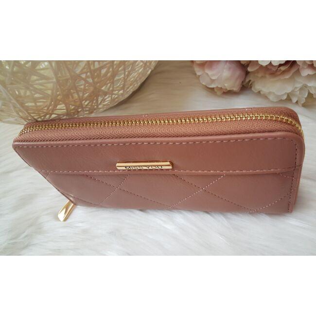 Varrott mintás elegáns női pénztárca rózsaszín