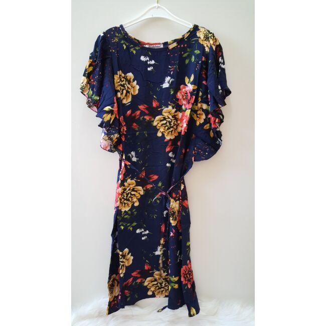 Virág mintás mini ruha sötétkék