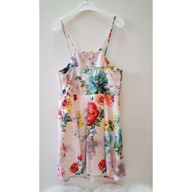 Színes virág mintás mini ruha