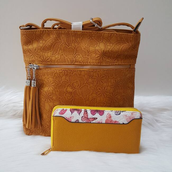 Yellow táska pénztárca szett