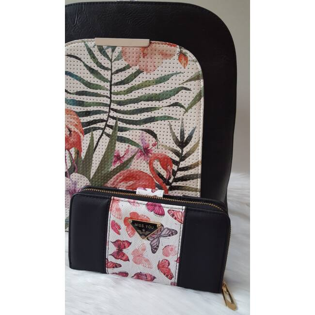 Flamingo táska pénztárca szett