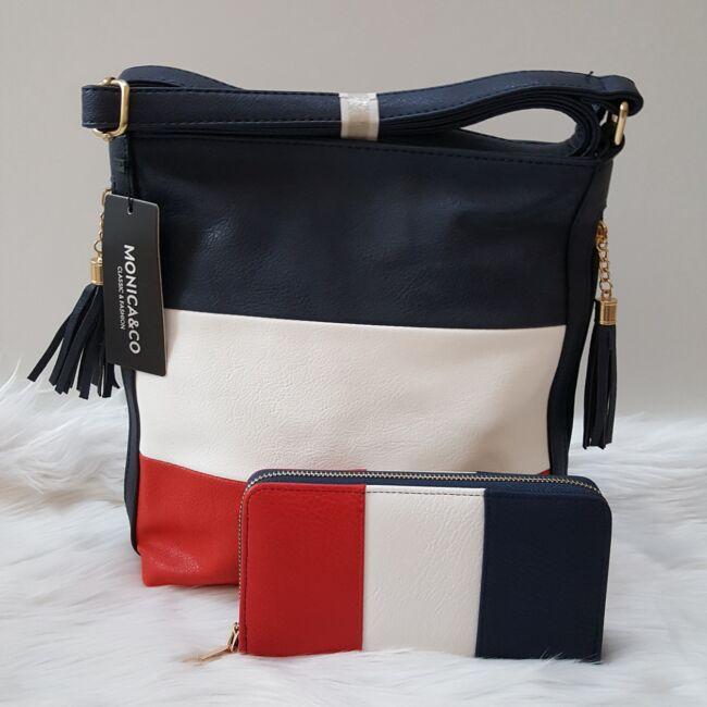 Blue color táska pénztárca szett
