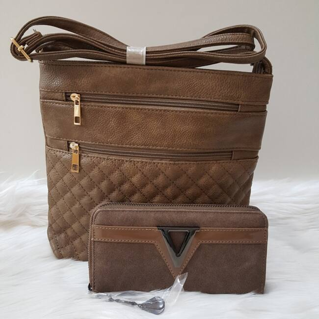 Brown romb táska pénztárca szett