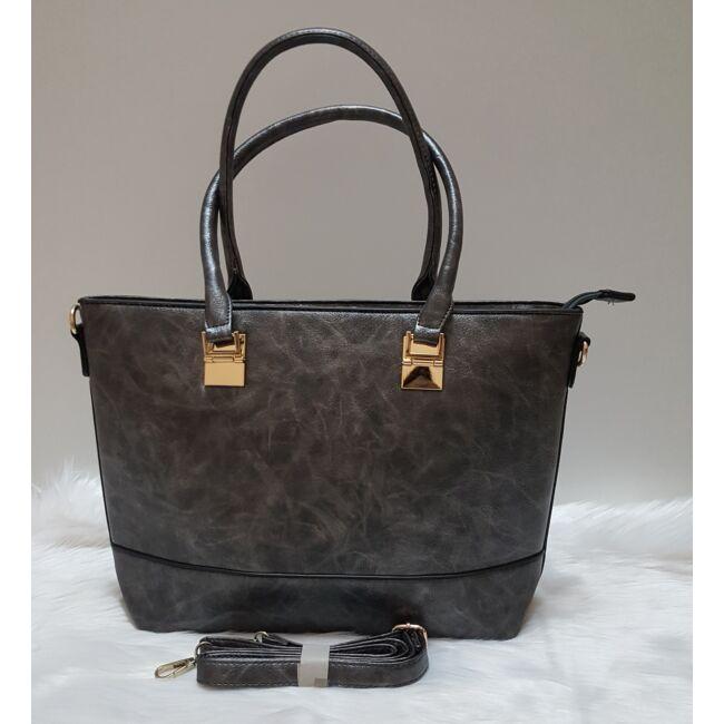 Sötét ezüst elegáns női táska