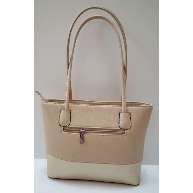 Bézs-arany merev falú elegáns női táska