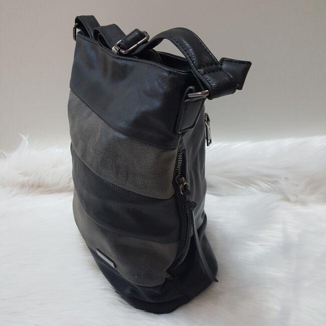 Black streap táska pénztárca szett