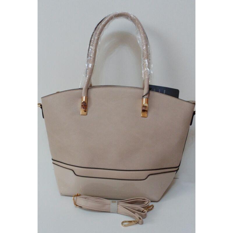 8ced0041cb Merev falú elegáns női táska bézs színben - Kézitáska / Válltáska
