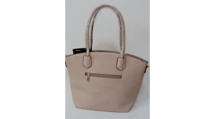 Merev falú elegáns női táska bézs színben - Kézitáska   Válltáska 8111733247